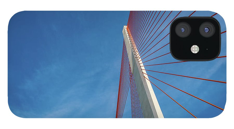 Hanging IPhone 12 Case featuring the photograph Modern Suspension Bridge by Phung Huynh Vu Qui