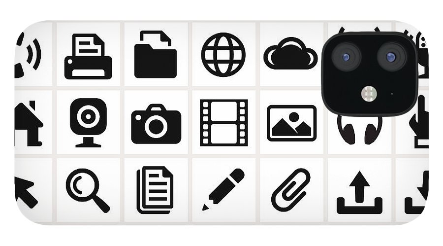Internet IPhone 12 Case featuring the digital art Modern Technology Internet Social by Bubaone