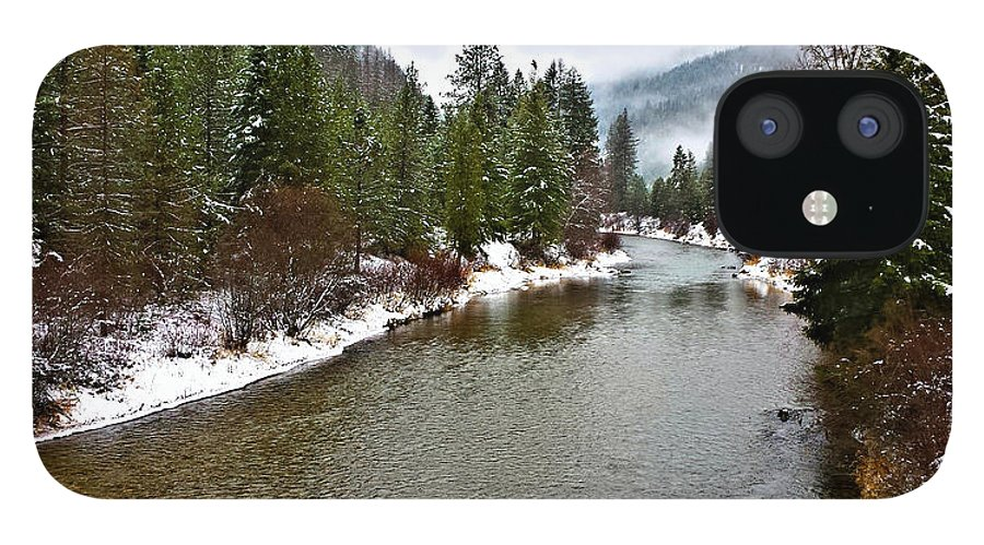 Montana IPhone 12 Case featuring the photograph Montana Winter by Susan Kinney