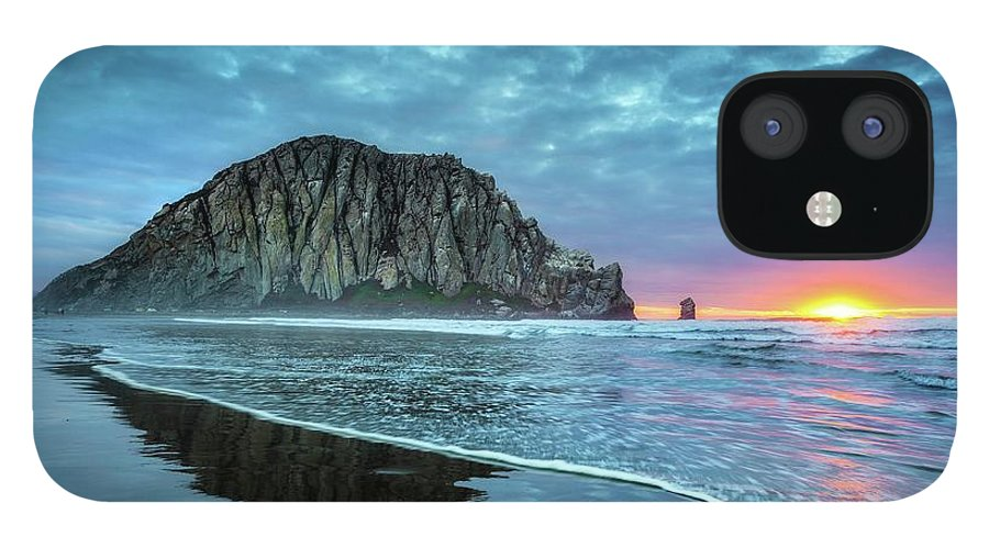 Tranquility IPhone 12 Case featuring the photograph Morro Sunset by Tom Grubbe