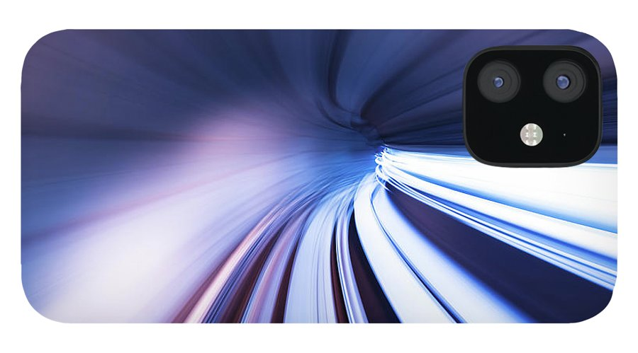 Curve IPhone 12 Case featuring the photograph Motion Tunnel by Loveguli