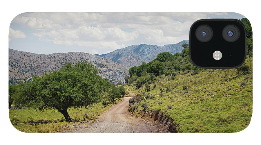 Tranquility IPhone 12 Case featuring the photograph Mountain Dirt Road In Northern Crete by Ed Freeman