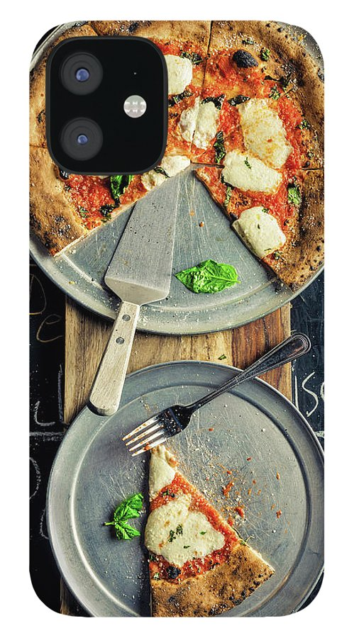 Cheese IPhone 12 Case featuring the photograph Mozzarella Pizza by Chang