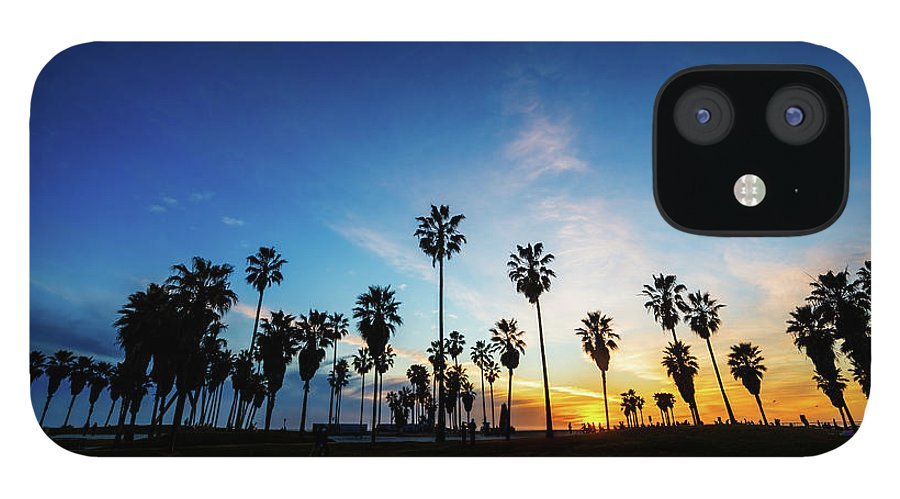 Shadow IPhone 12 Case featuring the photograph Muscle Beach At Dusk by Extreme-photographer