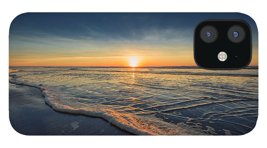 Sunset Photography Print IPhone 12 Case featuring the photograph Navy Sunset by Lucid Mood