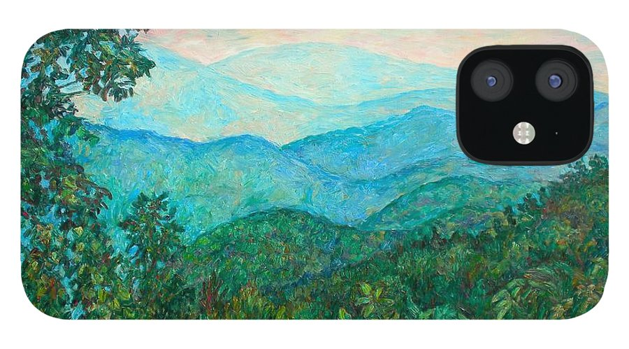 Landscape IPhone 12 Case featuring the painting Near Purgatory by Kendall Kessler