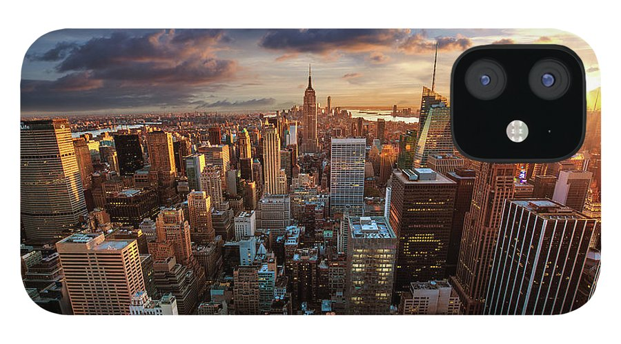 Tranquility IPhone 12 Case featuring the photograph New York City Skyline by Dominic Kamp Photography