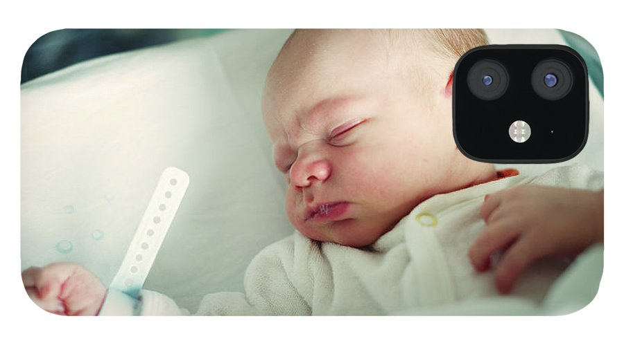 Tranquility IPhone 12 Case featuring the photograph Newborn Boy. First Day by Aleksandr Morozov
