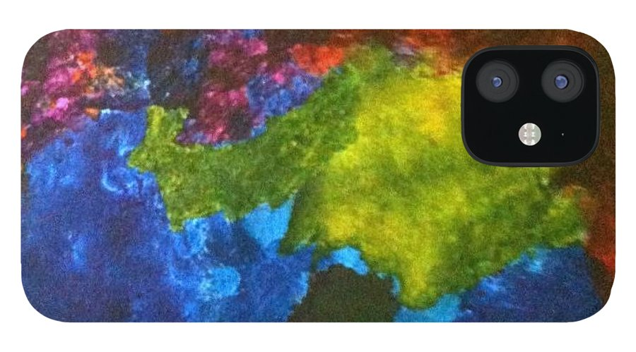 Abstract iPhone 12 Case featuring the painting No. 417 by Vijayan Kannampilly