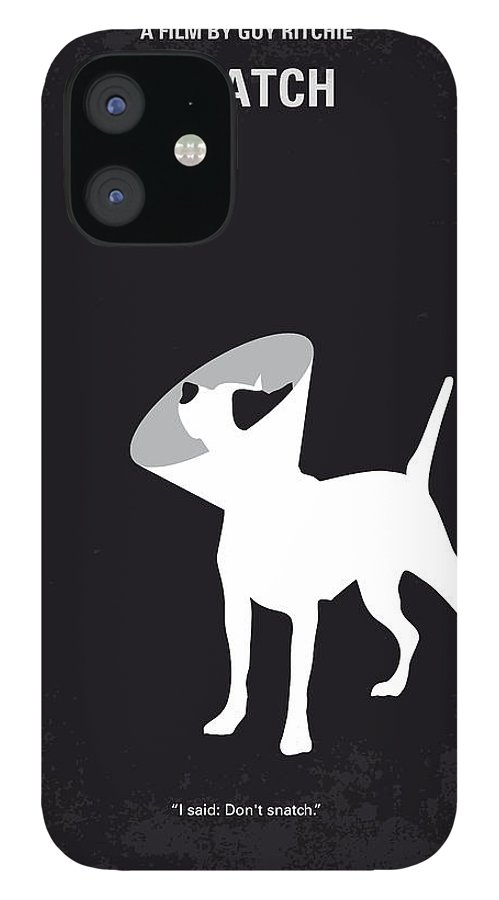Snatch IPhone 12 Case featuring the digital art No079 My Snatch minimal movie poster by Chungkong Art