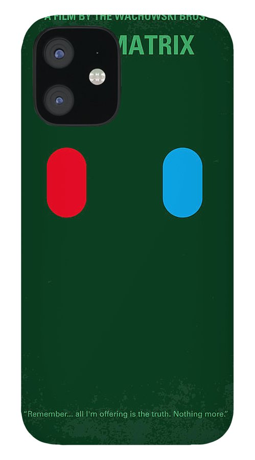 Matrix iPhone 12 Case featuring the digital art No117 My MATRIX minimal movie poster by Chungkong Art