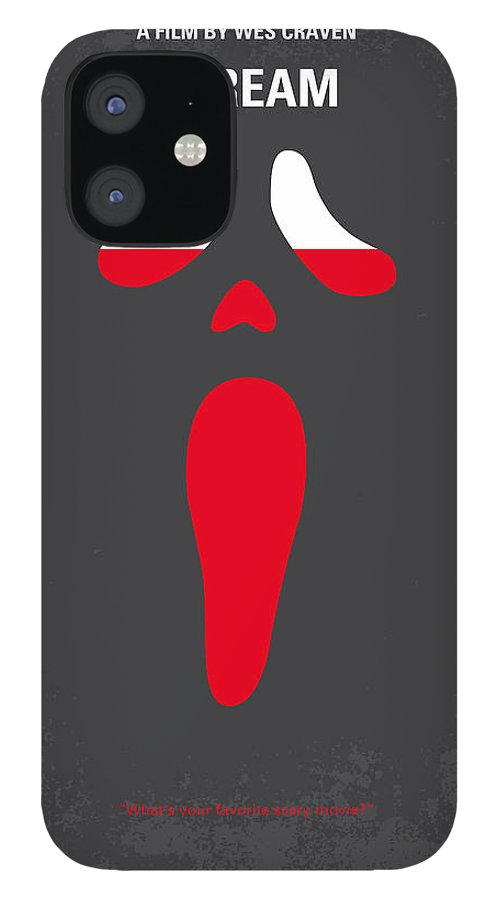 Scream iPhone 12 Case featuring the digital art No121 My SCREAM minimal movie poster by Chungkong Art