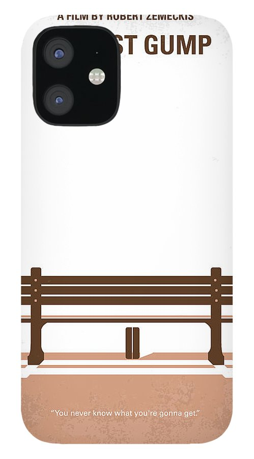 Forrest IPhone 12 Case featuring the digital art No193 My Forrest Gump minimal movie poster by Chungkong Art