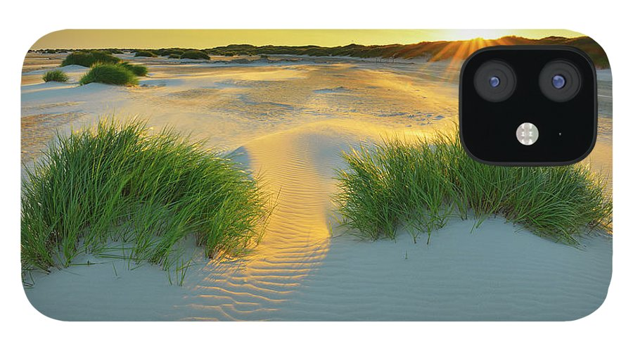 Scenics IPhone 12 Case featuring the photograph North Sea Sandbank Kniepsand by Raimund Linke