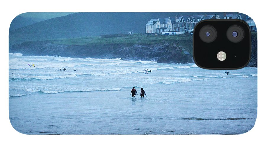 Built Structure IPhone 12 Case featuring the photograph October Evening Surf by Landscapes, Seascapes, Jewellery & Action Photographer
