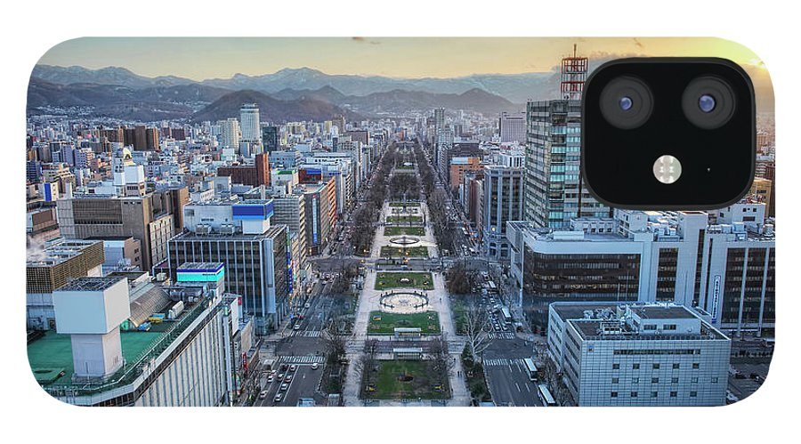 Hokkaido IPhone 12 Case featuring the photograph Odori Park Sunset by Daniel Chui