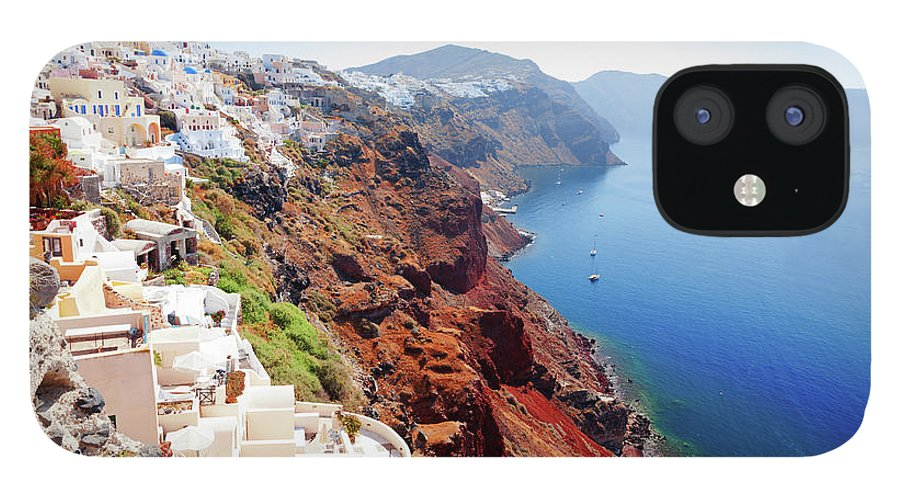 Archipelago IPhone 12 Case featuring the photograph Oia Cityscape, Santorini by Ivanmateev
