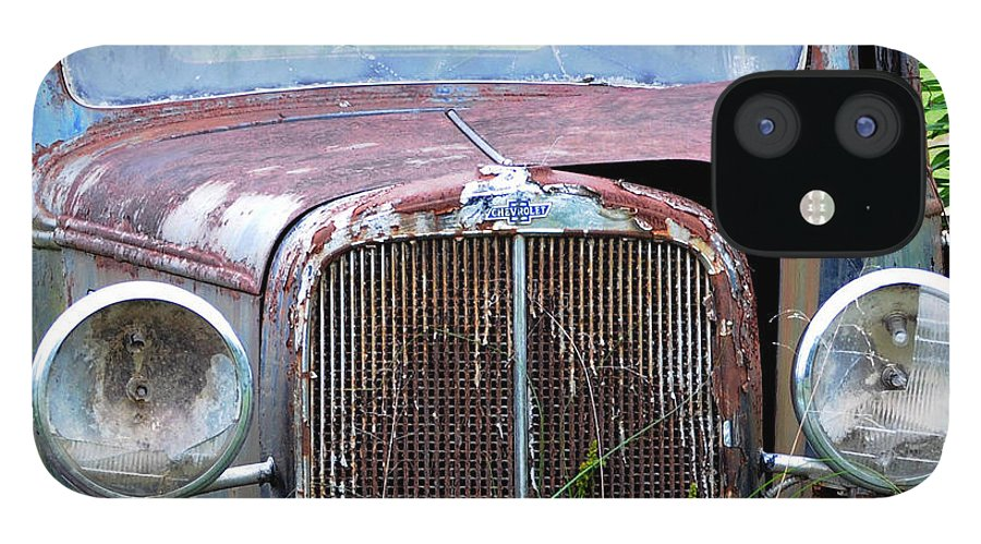 Antique Car IPhone 12 Case featuring the photograph Ole Chevy by Leon Hollins III