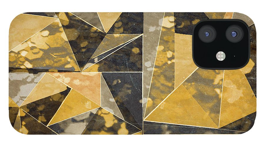 Omg IPhone 12 Case featuring the digital art Omg Modern Triangles II by south Social Studio