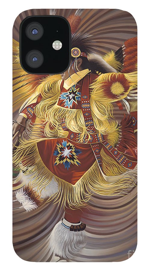 Sacred IPhone 12 Case featuring the painting On Sacred Ground Series 4 by Ricardo Chavez-Mendez