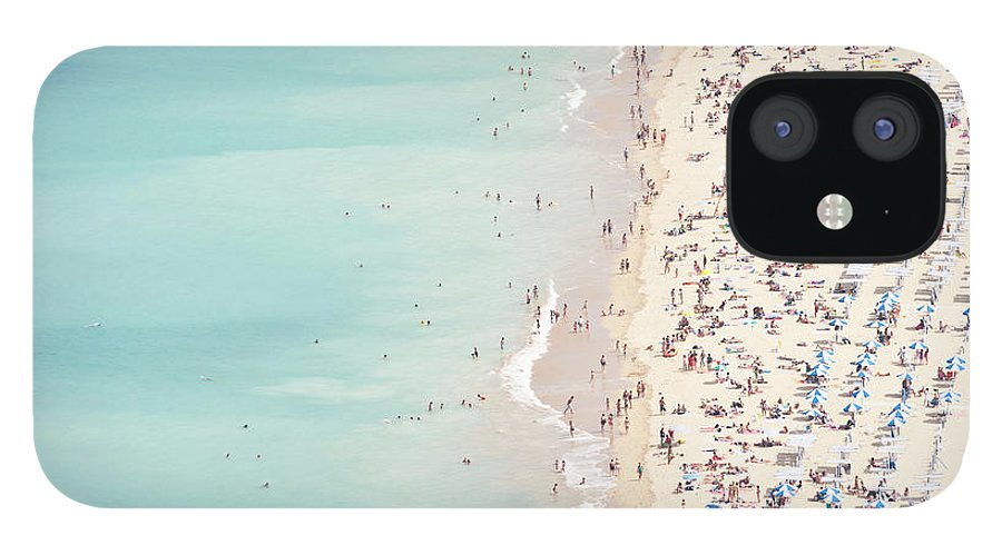 Water's Edge IPhone 12 Case featuring the photograph Ondarreta Beach, San Sebastian, Spain by John Harper