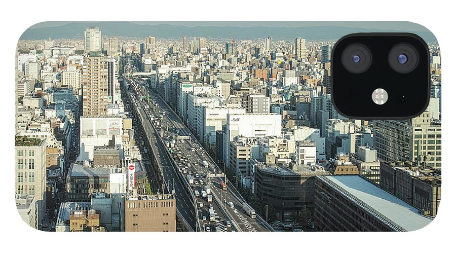 Osaka Prefecture IPhone 12 Case featuring the photograph Osaka Cityscape by I Love Photo And Apple.