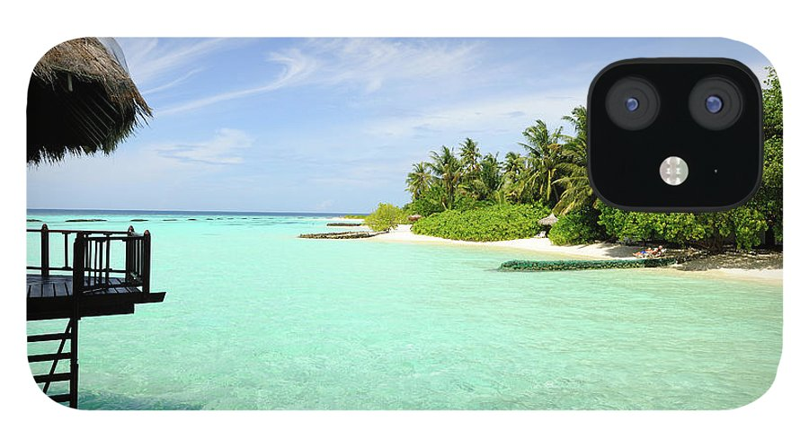Seascape iPhone 12 Case featuring the photograph Outlook On A Maldives Island by Wolfgang steiner