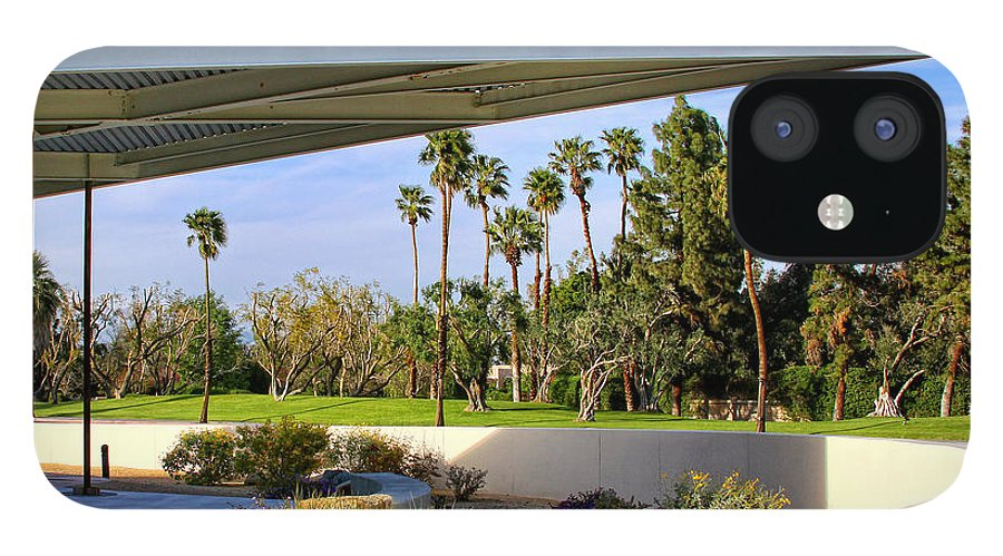 Palm Springs IPhone 12 Case featuring the photograph OVERHANG Palm Springs Tram Station by William Dey
