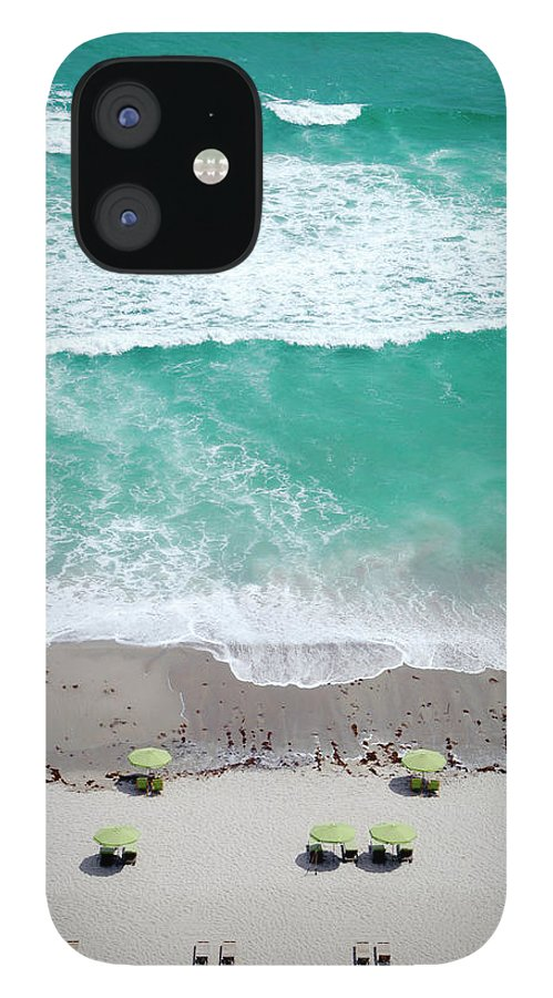Vacations IPhone 12 Case featuring the photograph Overhead Wide Angle Of The Beach by Bauhaus1000