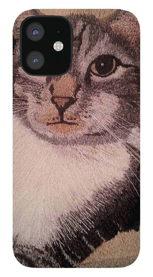 Fiber Art IPhone 12 Case featuring the tapestry - textile Ovid by Jenny Williams