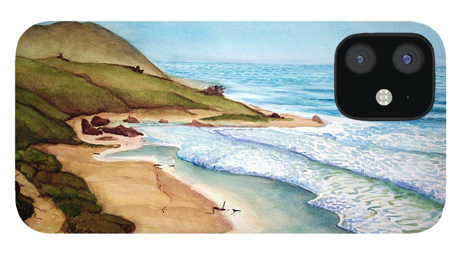 Rick Huotari IPhone 12 Case featuring the painting Pacific by Rick Huotari