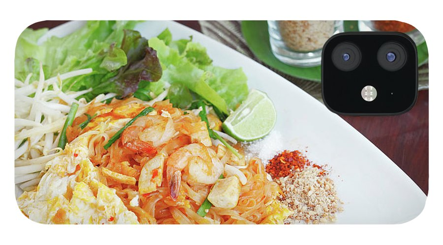 Prawn IPhone 12 Case featuring the photograph Pad Thai by Tommyix