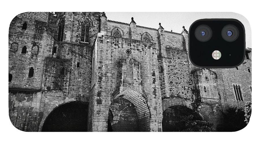 Palacio IPhone 12 Case featuring the photograph palacio real mayor de Barcelona Catalonia Spain by Joe Fox
