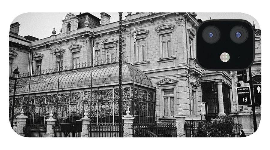 Palacio IPhone 12 Case featuring the photograph palacio sara braun club de la union Punta Arenas Chile by Joe Fox