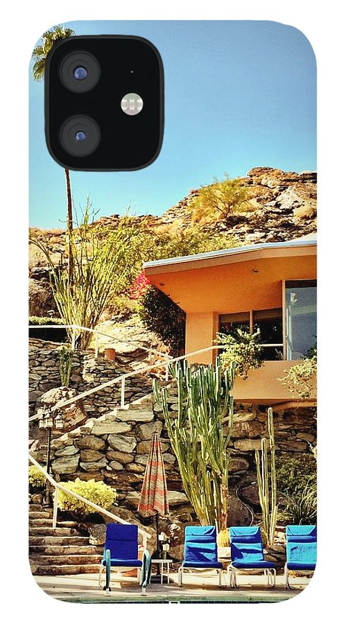Pool IPhone 12 Case featuring the photograph Palm Springs Pool by Julie Gebhardt
