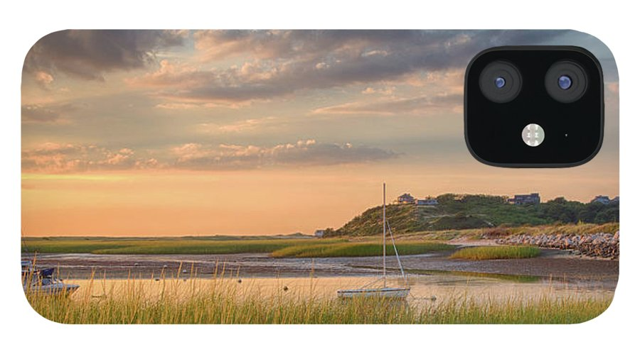 Scenics IPhone 12 Case featuring the photograph Pamet Harbor In Afternoon by Betty Wiley