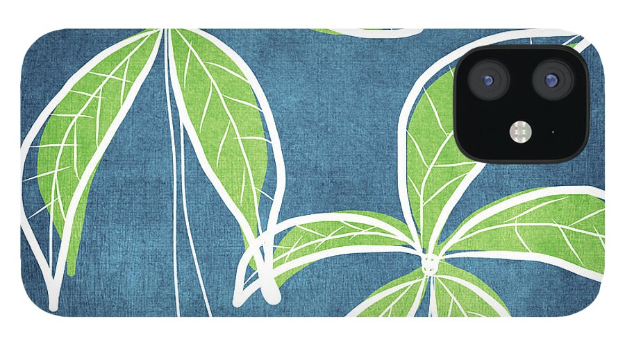 Palm Trees IPhone 12 Case featuring the painting Paradise Palm Trees by Linda Woods