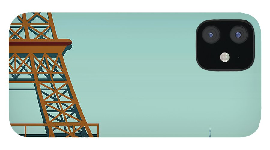 Built Structure IPhone 12 Case featuring the digital art Paris by Drmakkoy