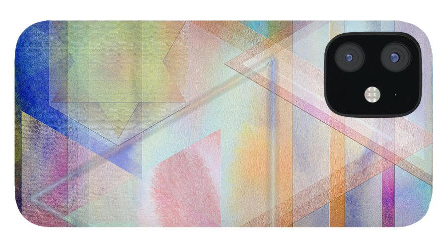 Pastoral Moment IPhone 12 Case featuring the digital art Pastoral Moment - Square Version by John Robert Beck