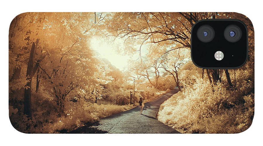 Shadow IPhone 12 Case featuring the photograph Pathway To Wonderland by D3sign