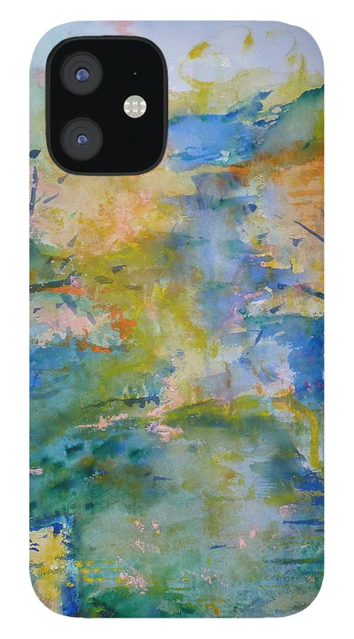 Peaceful IPhone 12 Case featuring the painting Peaceful Path by Phoenix Simpson