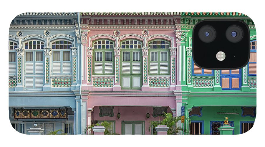 Tranquility IPhone 12 Case featuring the photograph Peranakan Architecture by Edward Tian