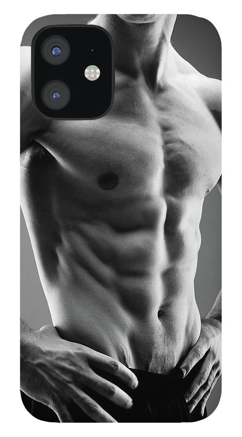 Abdominal Muscle IPhone 12 Case featuring the photograph Perfect Male Body by Georgijevic