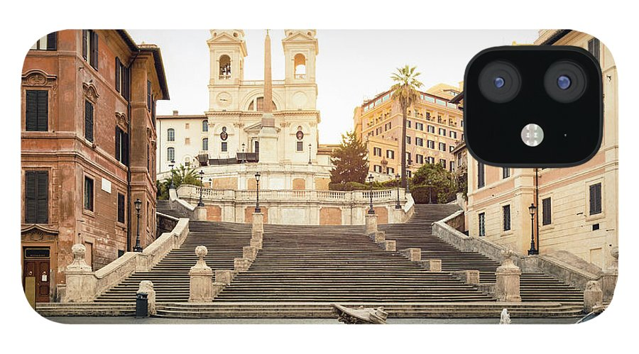 Steps IPhone 12 Case featuring the photograph Piazza Di Spagna, Spanish Steps, Rome by Spooh