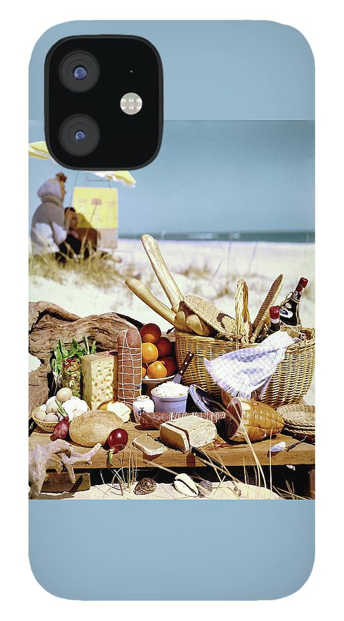Picnic Display On The Beach IPhone 12 Case