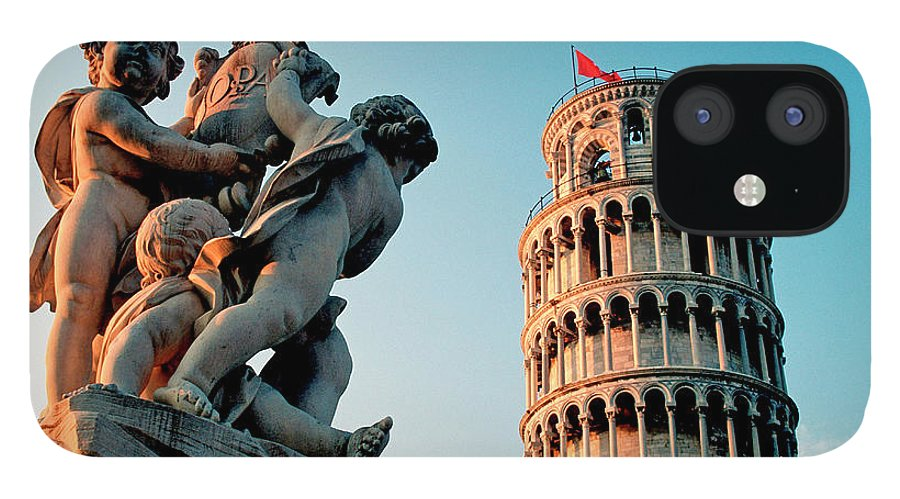 Statue iPhone 12 Case featuring the photograph Pisa, Leaning Tower, Tuscany, Italy by Hans-peter Merten