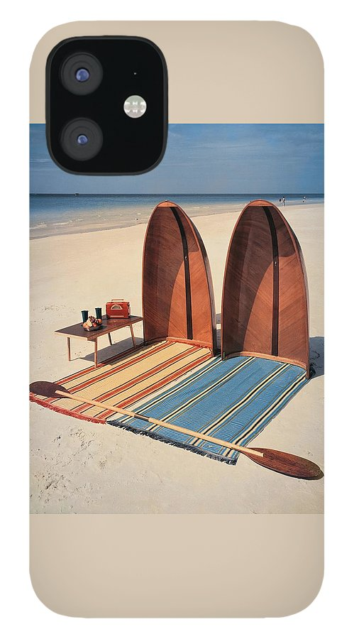Pixie Collapsible Boat On The Beach IPhone 12 Case