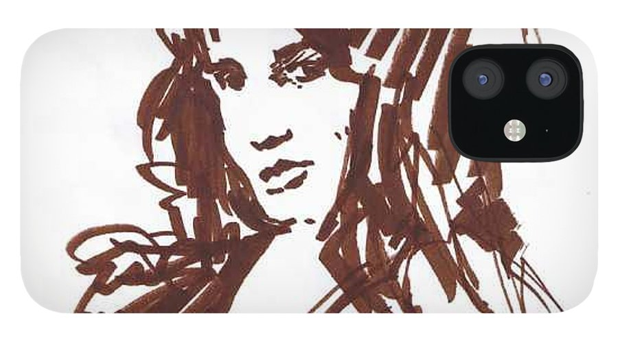 Playful IPhone 12 Case featuring the drawing Playful by Seth Weaver