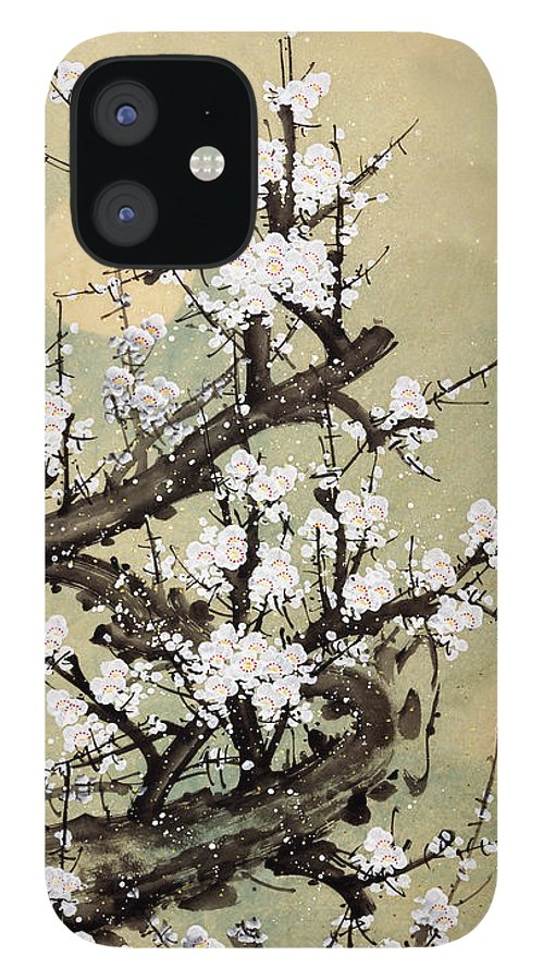 Chinese Culture IPhone 12 Case featuring the digital art Plum Blossom by Vii-photo