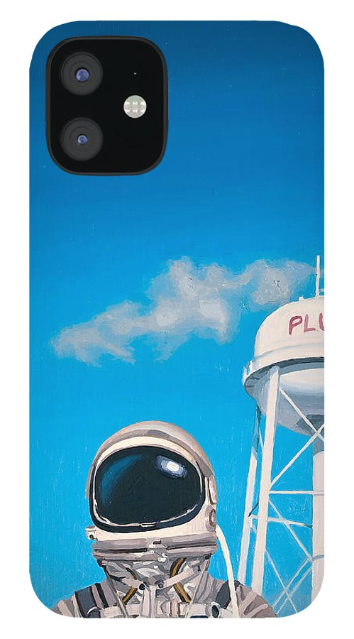 Astronaut IPhone 12 Case featuring the painting Pluto by Scott Listfield
